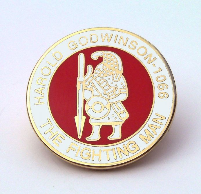 Harold Godwinson - The Fighting Man Lapel Badge - White